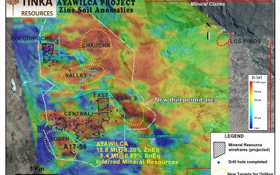 Tinka announces results of new drill holes in South Ayawilca (19-07-2017)