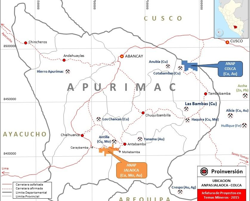 ProInversión will auction two other copper projects this year