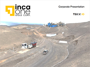 Inca One obtained gold production record in its Chala plant