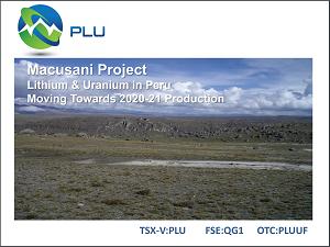 Plateau Energy amplia línea de base ambiental de su proyecto Macusani (07/06/2018)