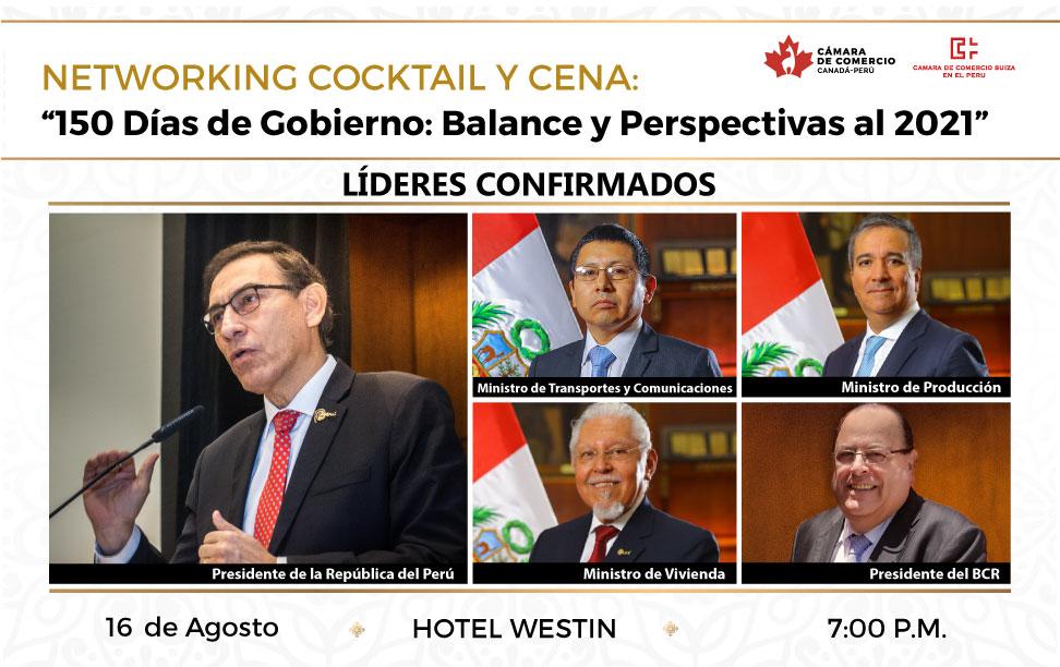 150 Días de Gobierno: Balance y Perspectivas al 2021 – Expositor Principal: Martín Vizcarra