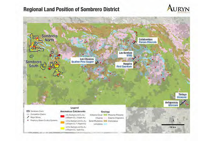 Auryn Resources adquiere concesiones mineras a Aceros Arequipa