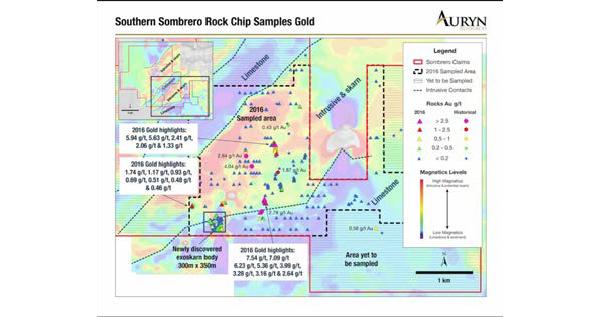 Auryn identifica múltiples objetivos de perforación de cobre y oro en Sombrero