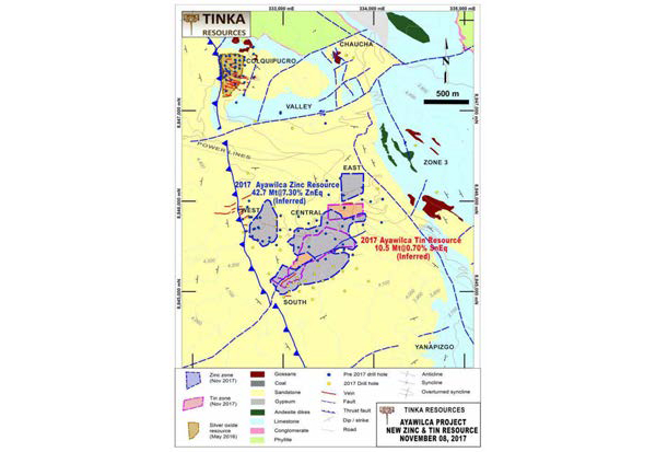 Tinka presentó actualización del informe técnico NI 43-101 de Ayawilca