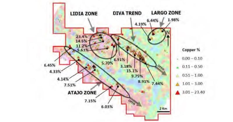 Mapeo geológico en Chapitos define corredor estructural mineralizado en Atajo