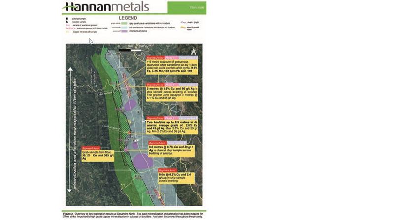Hannan anuncia resultados de muestreo en nueva zona de proyecto San Martín