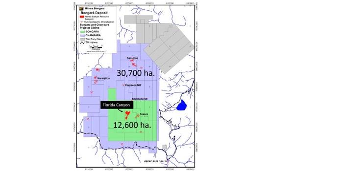 Solitario corta 12.4m @ 15.1% Zn Eq en Florida Canyon