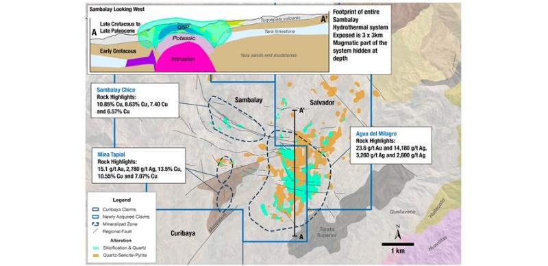 Auryn muestrea plata y oro de alta ley en proyecto Curibaya en Tacna