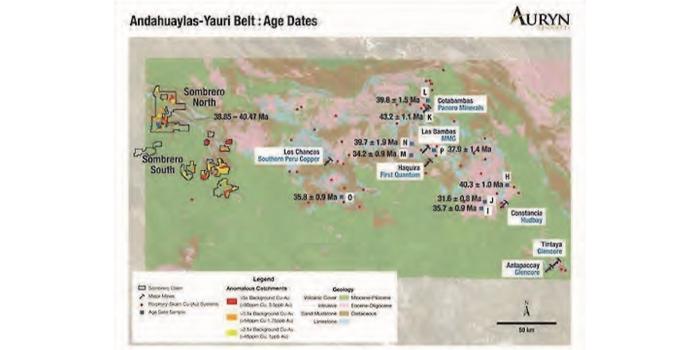 Rocas intrusivas de Sombrero semejan en edad a importantes depósitos del cinturón Andahuaylas-Yauri