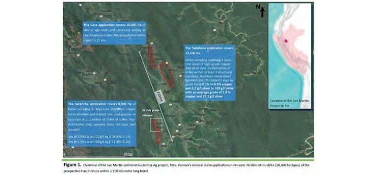 Hannan Metals recibe 24 concesiones mineras adicionales en proyecto San Martín